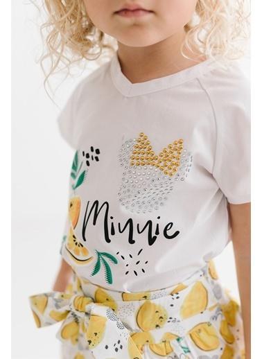 Minnie Mouse Lisanslı Çocuk Takım 17473 Beyaz